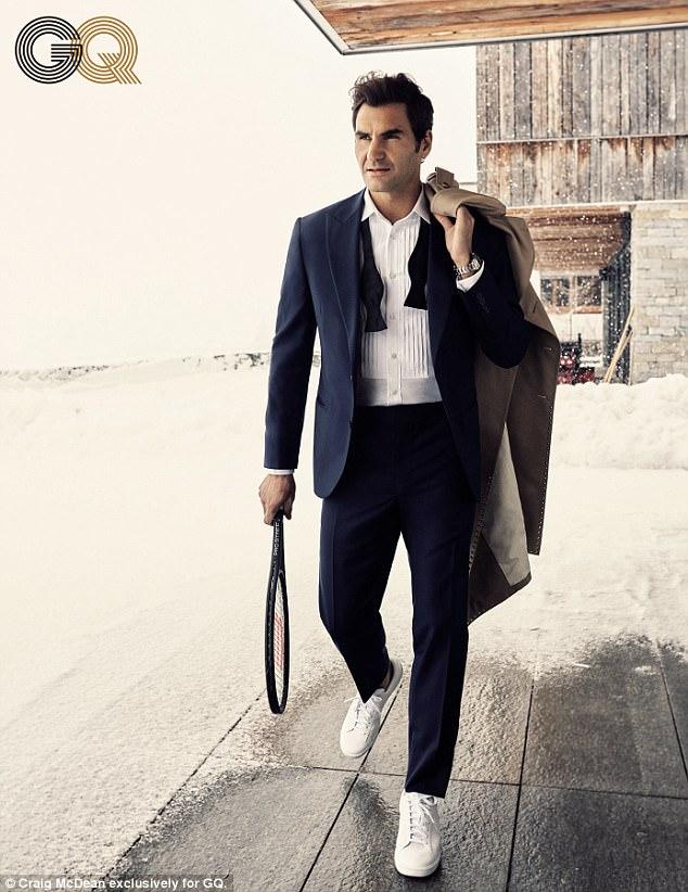 Phát sốt với vẻ lịch lãm của Roger Federer trên tạp chí GQ - Ảnh 3.