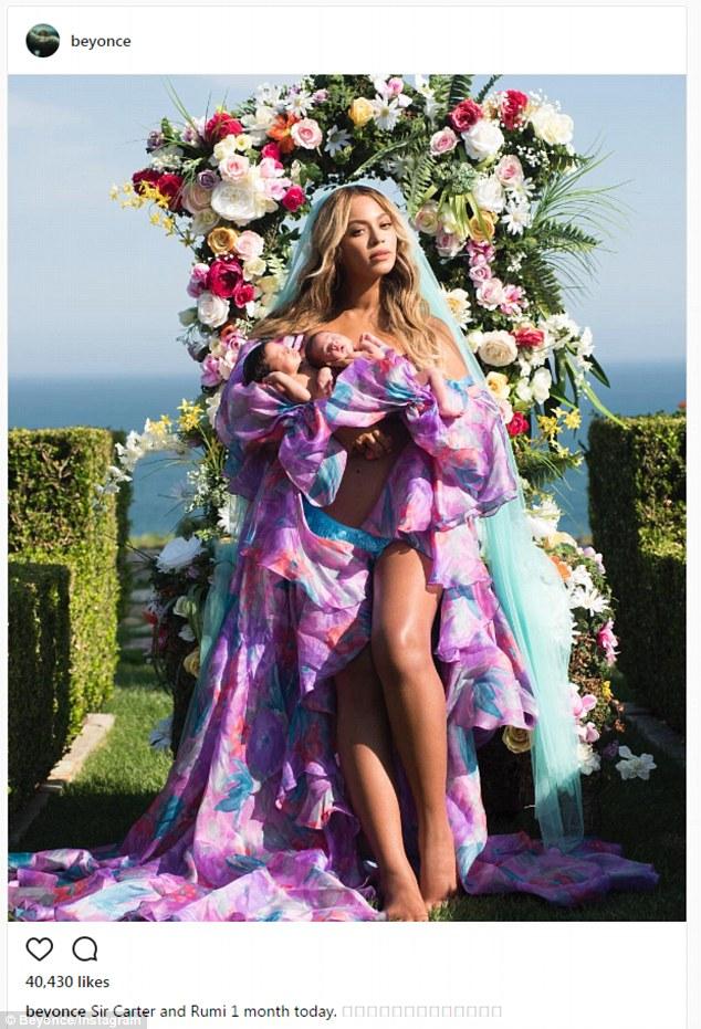 Cặp sinh đôi của Beyonce và Jay Z đã lộ diện - Ảnh 1.