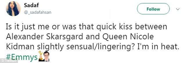 Nụ hôn dậy sóng Emmy 2017 của Nicole Kidman và bạn diễn gây bão MXH - Ảnh 3.