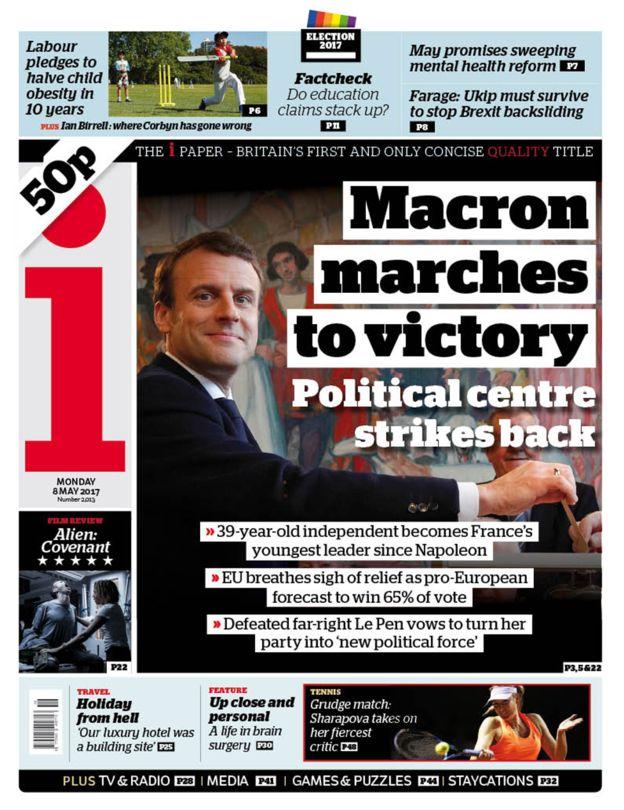 Chiến thắng của tân Tổng thống Pháp tràn ngập trang nhất báo chí châu Âu - Ảnh 6.