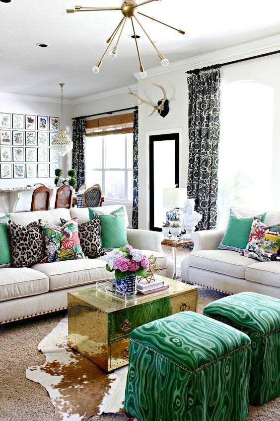 Tạo điểm nhấn nổi bật cho không gian trong nhà bằng màu xanh lá dịu mát - ảnh 3