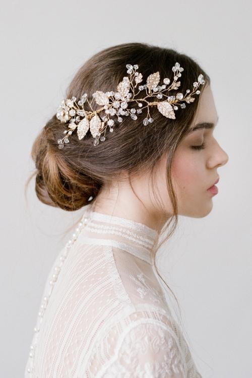 Phụ kiện cài tóc giúp cô dâu thêm tỏa sáng trong ngày cưới - Ảnh 7.
