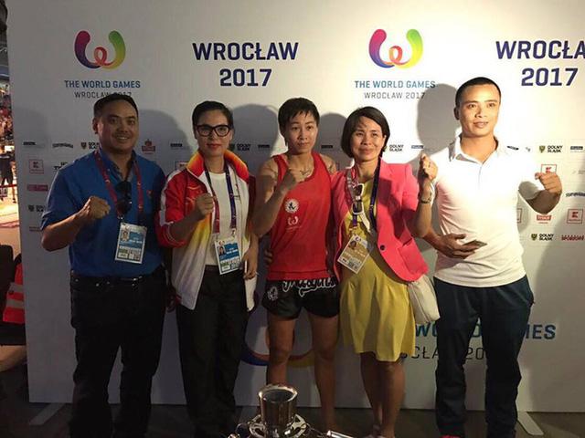Thắng nhà vô địch thế giới, Bùi Yến Ly giành HCV Muay tại ĐHTT Thế giới - Ảnh 1.