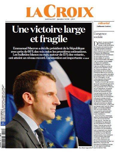Chiến thắng của tân Tổng thống Pháp tràn ngập trang nhất báo chí châu Âu - Ảnh 8.