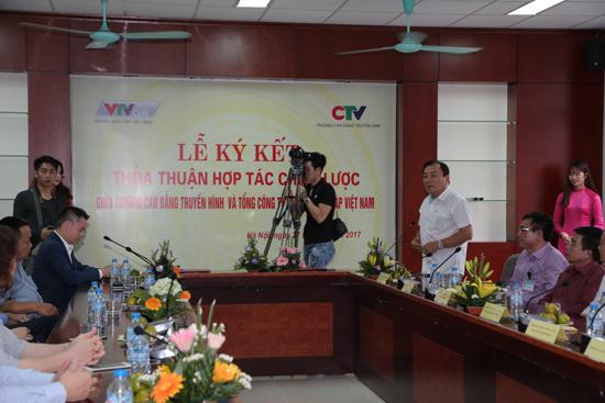 Trường Cao đẳng Truyền hình ký kết thỏa thuận hợp tác với VTVcab - Ảnh 2.