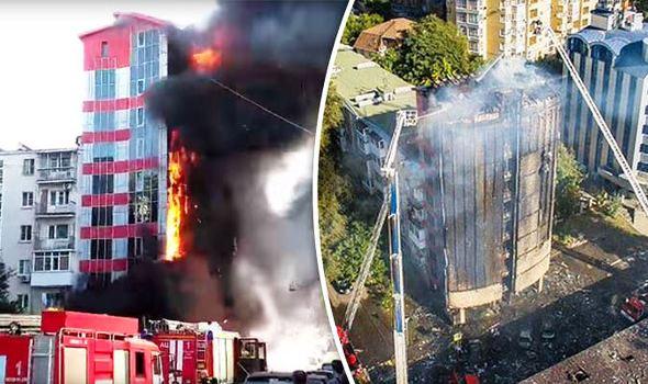 Cháy khách sạn tại Nga, ít nhất 2 người thiệt mạng - Ảnh 1.