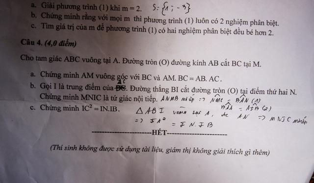 Sở GD&ĐT Quảng Nam ra sai đề thi Toán lớp 9 - Ảnh 2.