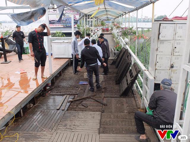 Tháo dỡ công trình vi phạm khu vực bến thủy, nhà thuyền Hồ Tây trước 16h ngày 9/2 - Ảnh 6.
