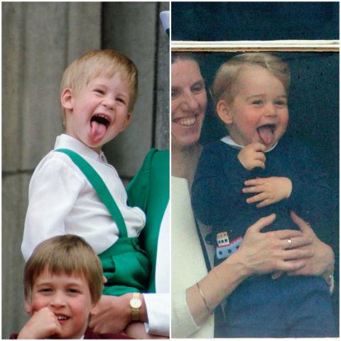 10 khoảnh khắc hoàng tử bé giống hệt các thành viên trong hoàng gia Anh - Ảnh 6.
