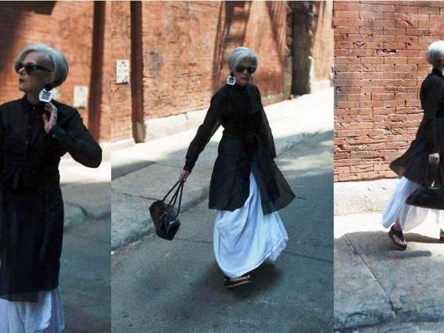 Nữ giáo sư thành người mẫu thời trang ở tuổi 63 - Ảnh 1.