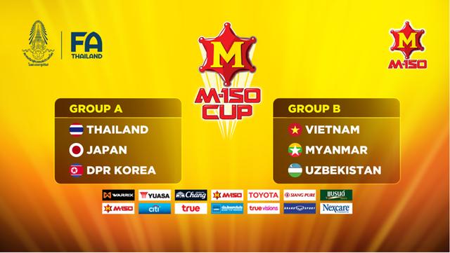Lịch thi đấu và trực tiếp bóng đá M-150 Cup ngày 15/12: U23 Thái Lan - U23 Việt Nam, U23 Nhật Bản - U23 Uzbekistan - Ảnh 1.