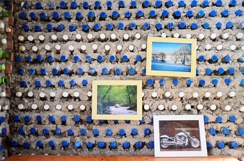 Độc đáo ngôi nhà 10m2 từ 8.800 vỏ chai nhựa - Ảnh 3.