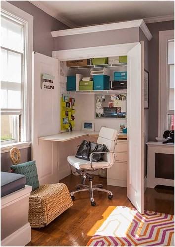 Cách tận dụng không gian để có một phòng làm việc nhỏ - Ảnh 5.