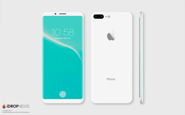 Mãn nhãn với concept iPhone 8 phiên bản Jet White - Ảnh 1.