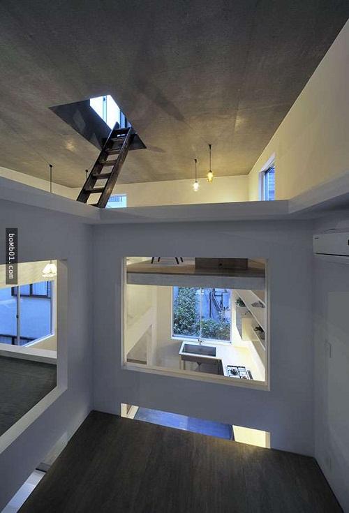 Độc đáo ngôi nhà được thiết kế kỳ lạ, không tường, không cầu thang - Ảnh 2.