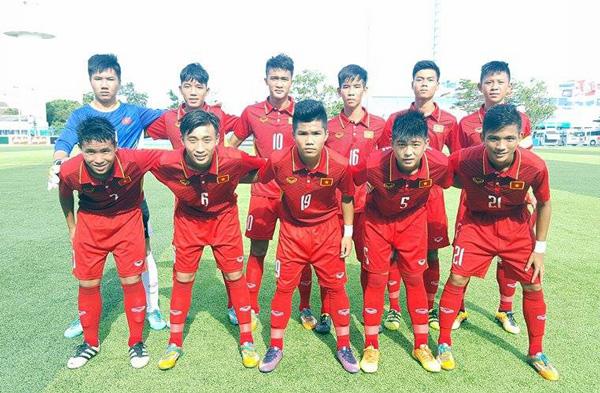 U15 Việt Nam xây chắc ngôi đầu, đoạt vé vào bán kết giải U15 AFF 2017 - Ảnh 1.