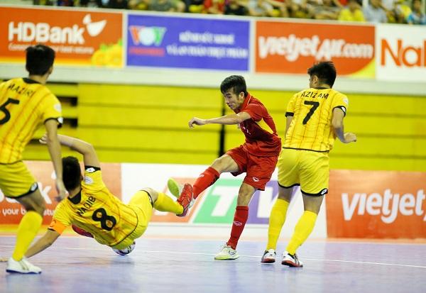 Giải futsal vô địch Đông Nam Á 2017: Thắng đậm ĐT Brunei, ĐT Việt Nam giành quyền vào bán kết