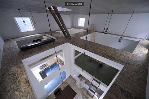 Độc đáo ngôi nhà được thiết kế kỳ lạ, không tường, không cầu thang - Ảnh 11.
