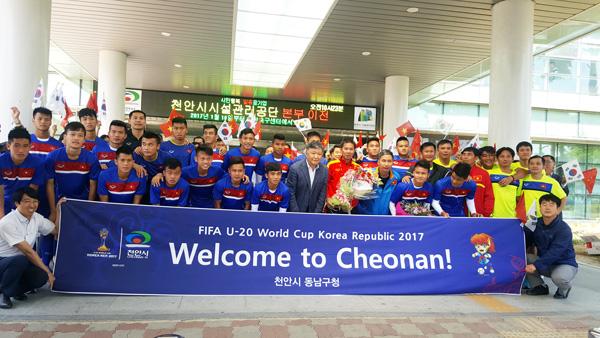 Lãnh đạo thành phố Cheonan nhiệt liệt chào mừng U20 Việt Nam - Ảnh 3.
