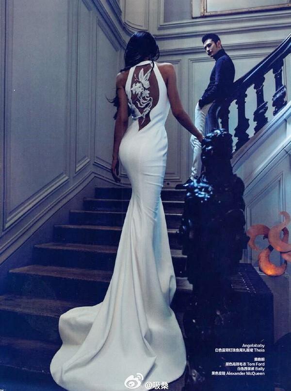 Ảnh cưới nóng bỏng giờ mới công bố của Angelababy và Huỳnh Hiểu Minh - Ảnh 8.