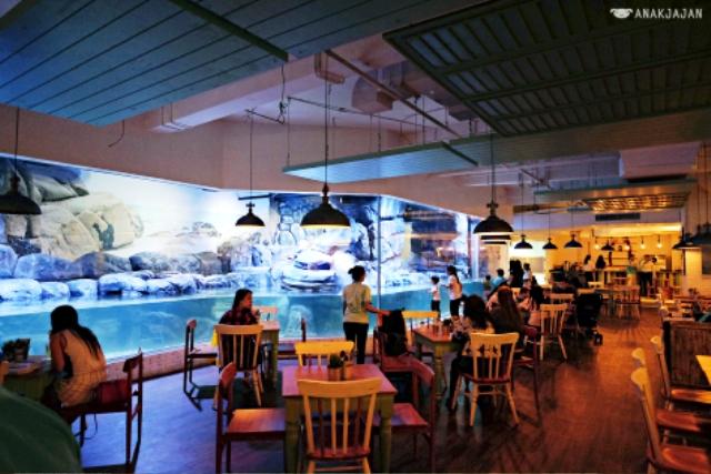 Nhà hàng chim cánh cụt thú vị tại Indonesia - Ảnh 2.