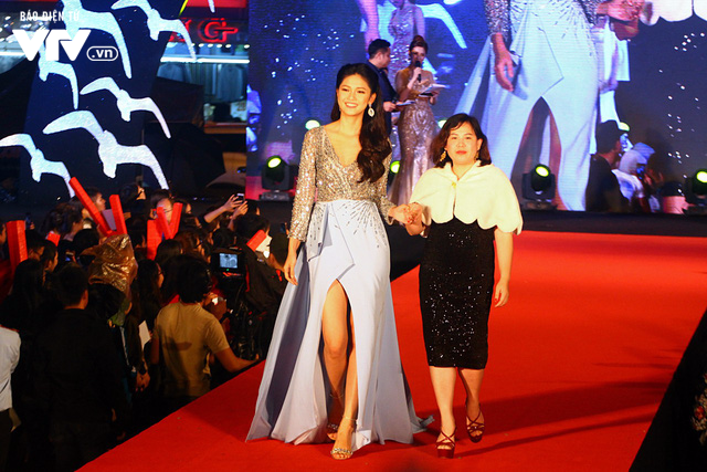 Dàn sao Việt đội mưa tới thảm đỏ Liên hoan phim Việt Nam lần thứ 20 - Ảnh 12.