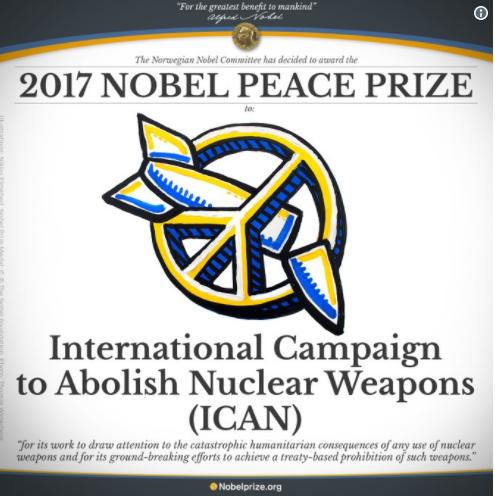 Giải Nobel Hòa bình được trao cho Chiến dịch Quốc tế về xóa bỏ vũ khí hạt nhân - Ảnh 1.