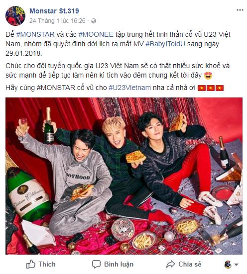 Sao Việt đồng loạt hủy show, lùi ngày ra mắt MV vì U23 - Ảnh 2.