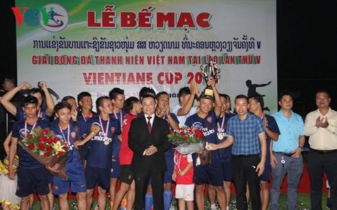 Bế mạc Giải bóng đá thanh niên Việt Nam tại Lào lần thứ 5 - Ảnh 1.