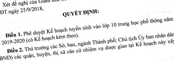 CHÍNH THỨC: Hà Nội chốt phương án thi lớp 10 THPT năm học 2019 - 2020 - Ảnh 1.