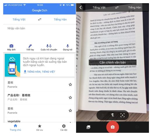 Google Translate đã hỗ trợ dịch tiếng Việt qua camera - Ảnh 1.