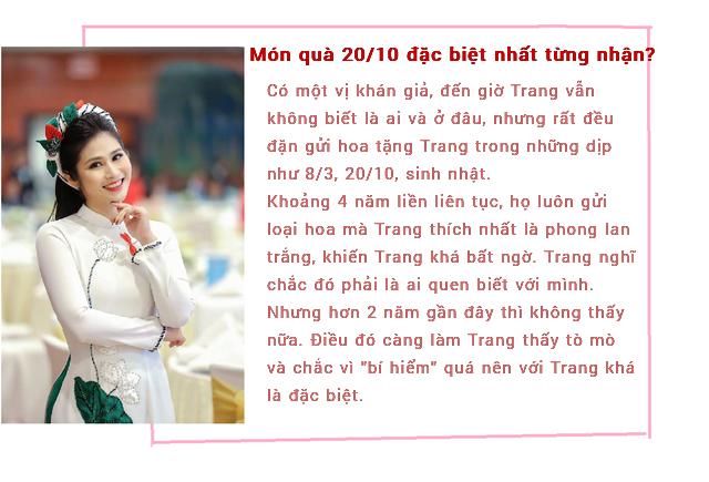 MC thời sự Minh Trang tiết lộ quà 20/10 do người bí mật tặng nhiều năm liền - Ảnh 1.