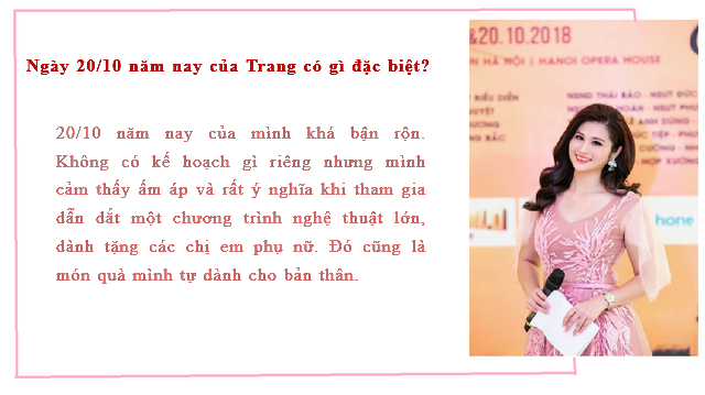 MC thời sự Minh Trang tiết lộ quà 20/10 do người bí mật tặng nhiều năm liền - Ảnh 2.