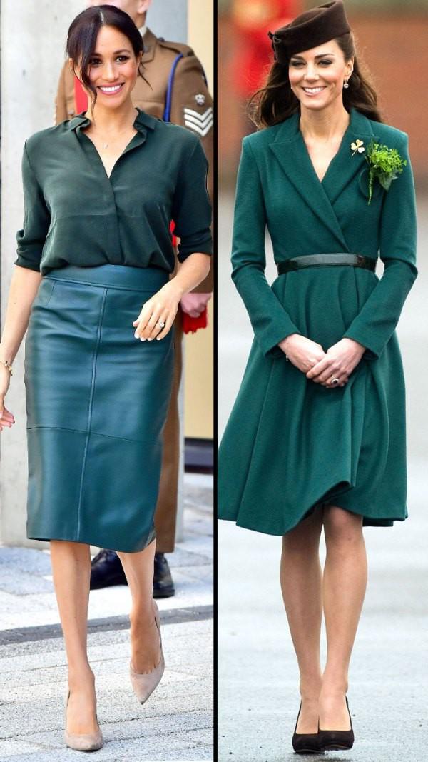 Hai công nương nước Anh thanh lịch với trang phục màu xanh - Ảnh 1.