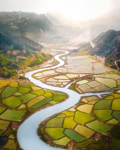 Ngỡ ngàng vẻ hoang sơ, tươi đẹp của các vùng đất châu Á từ trên cao - Ảnh 11.