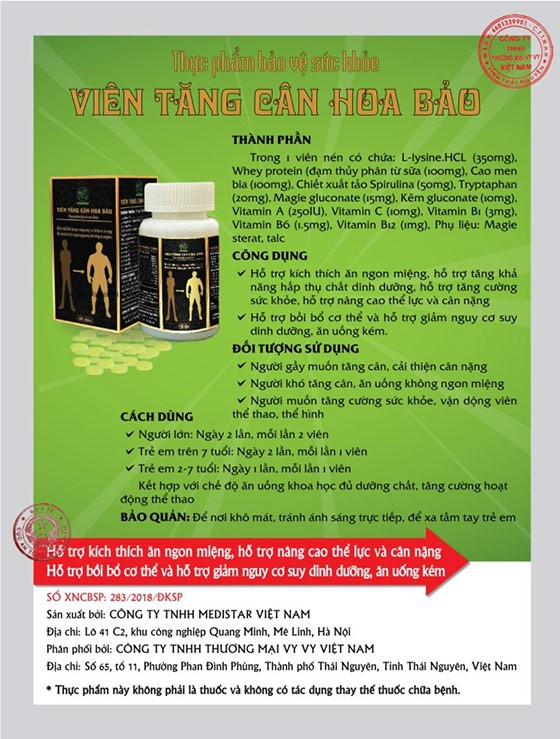 TPCN Viên tăng cân Hoa Bảo – kích thích ăn ngon miệng cùng NS Quang Tèo - Ảnh 4.