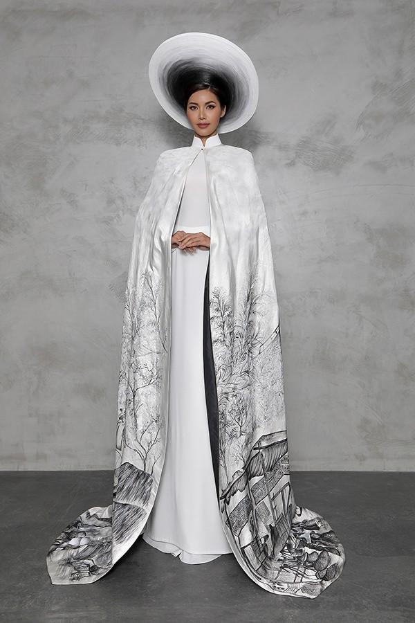 Minh Tú công bố trang phục in hình bà cụ Việt đẹp nhất thế giới - Ảnh 3.