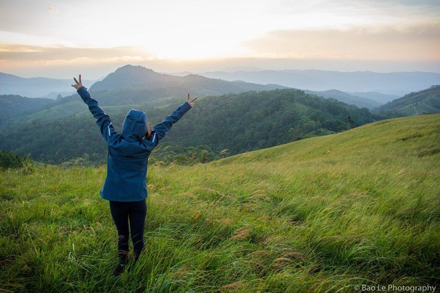 Những đồi cỏ xanh bạt ngàn trên cung đường trekking đẹp nhất Việt Nam - Ảnh 13.