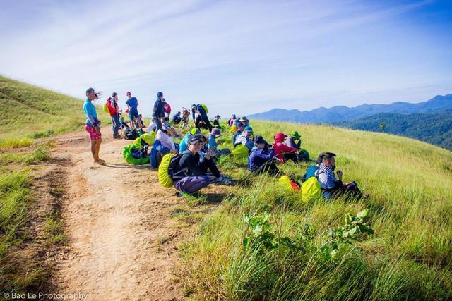 Những đồi cỏ xanh bạt ngàn trên cung đường trekking đẹp nhất Việt Nam - Ảnh 7.