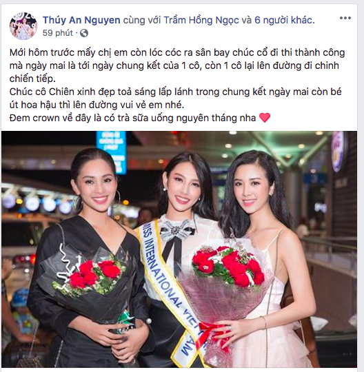 """Thùy Tiên nhận """"cơn mưa"""" lời chúc trước thềm Chung kết Miss International 2018 - Ảnh 4."""