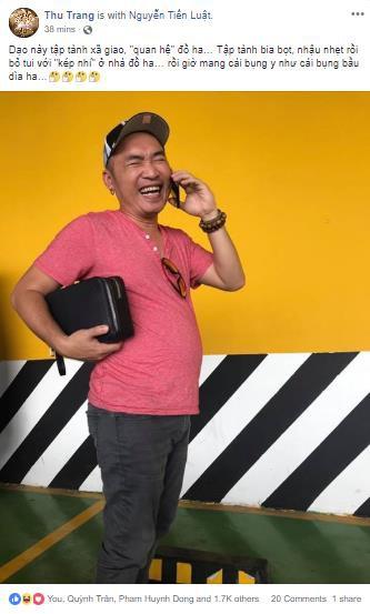 Thu Trang đăng đàn mạng xã hội than chồng, Tiến Luật tìm lối đi riêng - Ảnh 1.