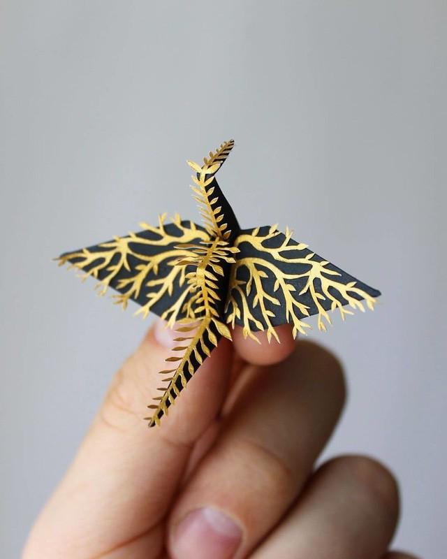 Mê mẩn ngắm những kiệt tác hạc giấy của nghệ thuật gấp giấy Origami - Ảnh 13.