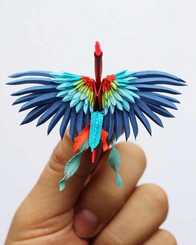 Mê mẩn ngắm những kiệt tác hạc giấy của nghệ thuật gấp giấy Origami - Ảnh 19.