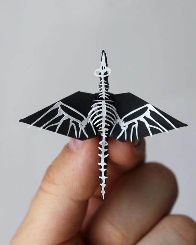 Mê mẩn ngắm những kiệt tác hạc giấy của nghệ thuật gấp giấy Origami - Ảnh 4.