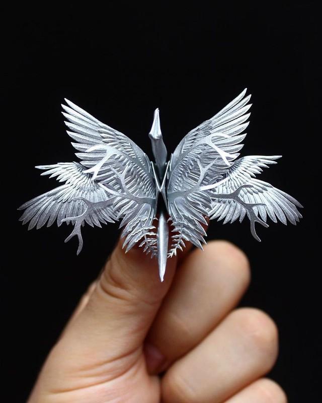 Mê mẩn ngắm những kiệt tác hạc giấy của nghệ thuật gấp giấy Origami - Ảnh 6.