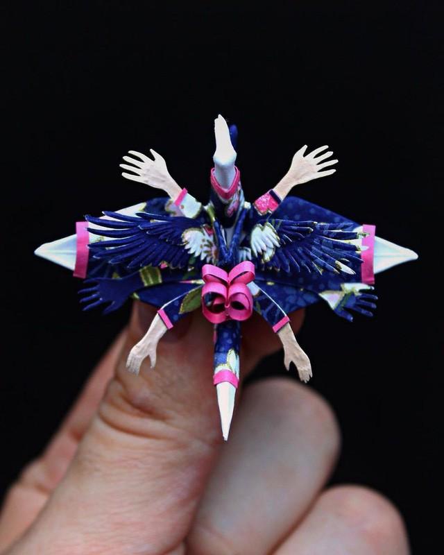 Mê mẩn ngắm những kiệt tác hạc giấy của nghệ thuật gấp giấy Origami - Ảnh 8.