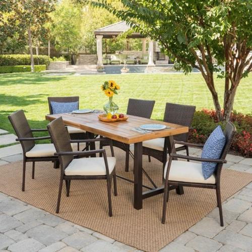 Bàn ghế ăn dành cho khu vực sân vườn - Ảnh 9.