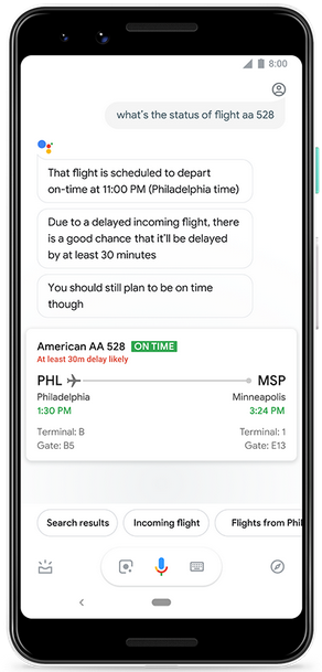 Google Assistant sẽ nói cho bạn biết nếu chuyến bay bị trễ - Ảnh 1.