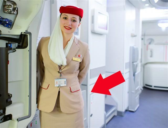 Món đồ bí mật luôn được tiếp viên hàng không giấu sau lưng khi chào đón khách - Ảnh 1.