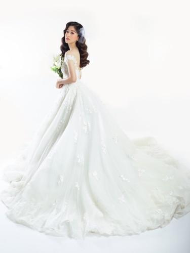 Á hậu Phương Nga hóa cô dâu xinh đẹp, lộng lẫy - Ảnh 4.